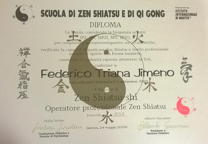 Diploma Operatore Professionale Zen Shiatsu